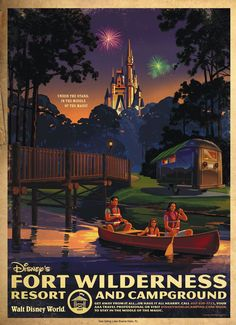 Walt Disney World Hotels and Resort Posters - Fort Wilderness