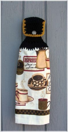 Hanging Kitchen Towel Coffee
