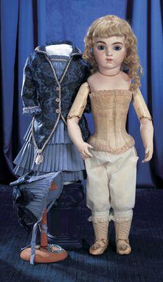 Magnifique! Family Dolls of Mildred Seeley:                       135  Bebe Bru,Size 12,with Original Bebe Stays and Bru Shoes
