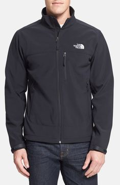 The North Face 'Apex Bionic' ClimateBlock™ Windproof & Water Resistant Softshell Jacket Stylish Men, Men Casual, North Face Outfits, Kinds Of Clothes, Softshell, North Face Jacket, Vest Jacket, The North Face, Cool Outfits