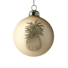 pineapple #christmas #ornament made from a seed from a tree, paint ...