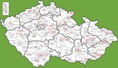 Tourist map of Czech Republic Tourist Map, Czech Republic, Castle, Diagram, World, Maps, Travelling, The World, Blue Prints