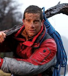 Bear Grylls---Full of vitamins...yeah you know you just said vit a mins!