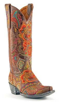 Womens Old Gringo Olivia Boots Vesuvio Brass #L1629-3 via @allen sutton Boots