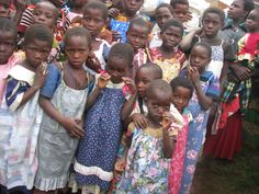 Children of Kamuuzeni village said thank you little dress for africa. A website with pillowcase dress patterns to make and resources to donate to the children in Africa