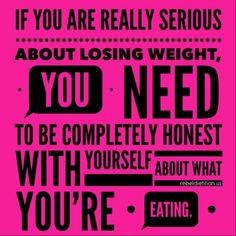 You can't out exercise a poor diet!