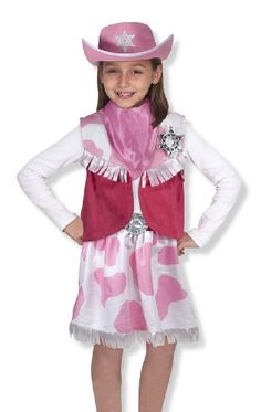 62c16a7d8ee Melissa Doug 14272 Cowgirl Role Play Set Dress Up Costumes