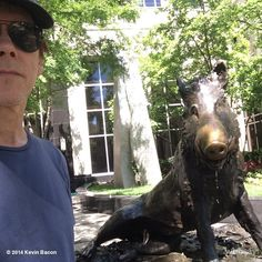A couple of Bacons in downtown Greenville SC... yeah. THAT Bacon // Kevin Bacon, yeahTHATgreenville