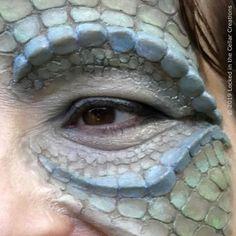 Dragon / Reptile / Lizard / Snake Fantasy Latex Prosthetic Set SFX Make-up Zombie Makeup, Fx Makeup, Halloween Makeup, Glam Makeup, Halloween Ideas, Halloween Costumes, Fairy Makeup, Mermaid Makeup, Latex