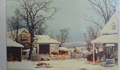 Vintage Winter Picture 1951 Currier & Ives by Vintassentials