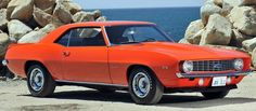 10 Rarest American Muscle Cars: 1969 Chevrolet Camaro ZL-1..only 69 produced.