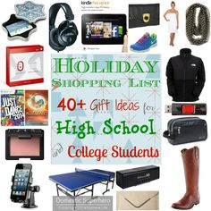 Holiday Ping List 40 Gift Ideas For High School And College Students Part 2