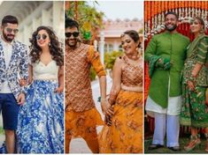 Couple Outfits - Stylist's Reveal Wedding Ready Ideas for Swoon Worthy Coordinated Outfits 💖 - Witty Vows Couple Wedding Dress, Wedding Hall Decorations, Mehendi Outfits, Emerald Green Dresses, Wedding Mandap, Indian Bridal Fashion, Wedding Invitation Cards, Invites, Couple Outfits