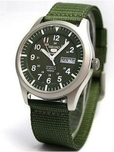 Seiko 5 Military Automatic Sports SNZG09K1 SNZG09 SNZG09K Men's Watch