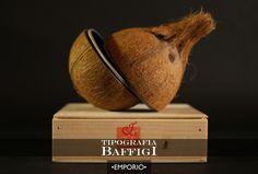 Un pezzo d'arte indiana contemporanea: una noce di cocco con una zip.
