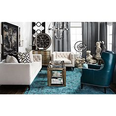 Eddie Accent Chair - Peacock | Chairs | Living-room | Furniture | Z Gallerie