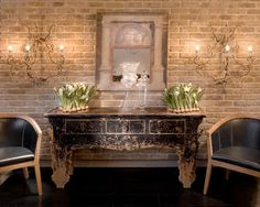 creamy brick    Brick Fireplace Design, Pictures, Remodel, Decor and Ideas - page 21