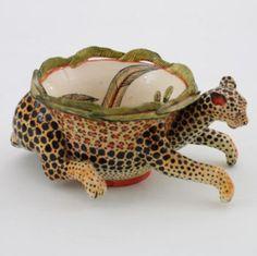 Ardmore Ceramics Leopard Peanut Bowl