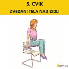6 efektivních cviků jak zhubnout boky, zatímco sedíte na židli Gentle Yoga, Detox, Sporty, Workout, Memes, Health, Beauty, Losing Weight, Health Care