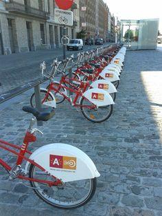 Bycicle plan antwerp Belgium