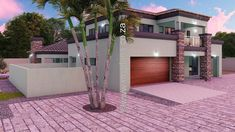 5 Bedroom House Plan MLB-1815D – My Building Plans South Africa My Building, Building Plans, 6 Bedroom House Plans, My Dream Home, Dream Homes, Mlb, South Africa, My House, Exterior