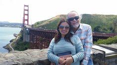 Cuddling at Golden Gate Bridge