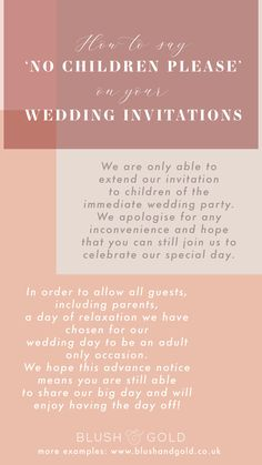 How To Say No Children Please On Tour Wedding Invites In in Wedding Invitation Wording No Children - Best Invitations Wedding Etiquette, Wedding Invitation Etiquette, Wedding Invitation Samples, Country Wedding Invitations, Wedding Favors, Wedding Decor, Wedding Ceremony, Wedding Invitation Wording Examples, Reception