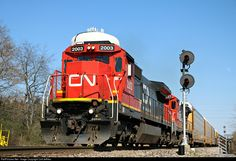 RailPictures.Net Photo: CN 2003 Canadian National Railway GE C40-8 (Dash 8-40C) at Valparaiso, Indiana by Colt Jeffries