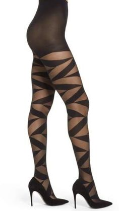 Pretty Polly Geo Sheer Tights - Shop at www. Cute Stockings, Stockings Lingerie, Nylon Stockings, Cosmic Girl, Fashion Tights, Steampunk Fashion, Gothic Fashion, Bas Sexy, Nylons And Pantyhose