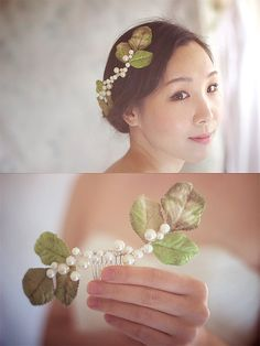 Leaf Wedding Headpiece Wedding Hair Accessories by wishpiece