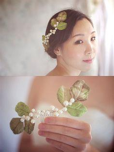 Leaf Wedding Headpiece Wedding Hair Accessories by wishpiece