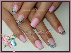 Pink Sand and Colorful Daisies by RadiD - Nail Art Gallery nailartgallery.nailsmag.com by Nails Magazine www.nailsmag.com #nailart