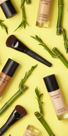 BAREPRO® Liquid Foundation with bamboo extract for a naturally matte, soft finish.