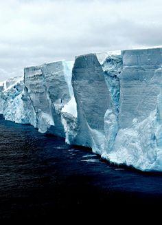 Iceberg - Antarctica (by Robert Moran.).