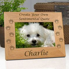 Dog Memorial Frame Personalized