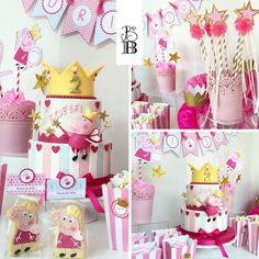 """""""Peppa Pig Party - Dolci e allestimento by Bella's Bakery - Monza"""""""