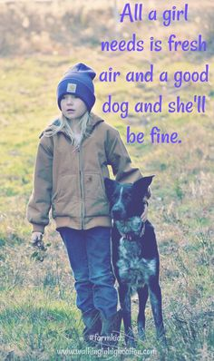 Fresh Air and Good Dog Kids And Parenting, Parenting Hacks, Farm Kids, Chores For Kids, Mom Advice, Working Dogs, Raising Kids, Science And Nature, Family Life