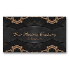 Leather Look Beige Brown Elegant Classy Business Card