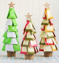 ❤ Tea Christmas trees - easy Christmas gift idea ❤Mindy -  craft idea & DIY tutorial collection