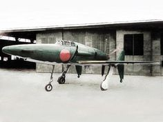 "The Kyūshū J7W1 Shinden (震電, ""Magnificent Lightning"") fighter prototype. Only two were finished before the end of the Second World War.  The Kyūshū J7W1 Shinden was a propeller-driven aircraft prototype that was built in a canard design. The wings were attached to the tail section and stabilizers were on the front. The propeller was also in the rear, in a pusher configuration."