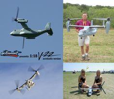 Scale model V-22 Osprey radio-controlled airplane