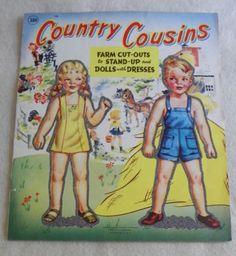 UNCUT-COUNTRY-COUSINS-FARM-CUT-OUTS-DOLLS-ABBOTT-PUBL-CO-1386-1940s