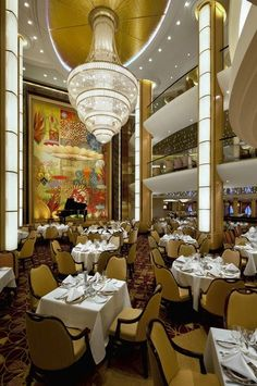 The Adagio Restaurant on Allure of the Seas is just one of many unique dining experiences on cruises ships these days. Here are some of the best.