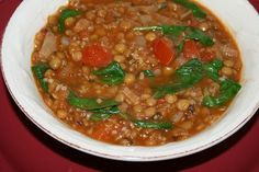 Catholic Cuisine: Meatless Meals :: Turkish Spinach and Lentil Soup