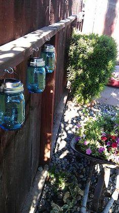 solar hanging mason jars