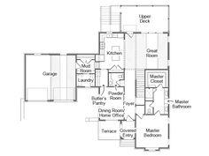 FIRST FLOOR - HGTV Smart Home 2014: Rendering and Floor Plan on HGTV