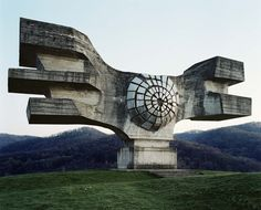 Spomenik #1 (Podgaric, Croatia), 2006. Photograph: Jan Kempenaers Commissioned by Tito to commemorate this World War II battle site and designed by Croatian sculptor Dušan Džamonja in 1967. This superstructure is seen by just handfuls of people, brave enough to explore the nether regions of the Balkans.
