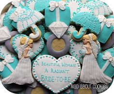 gorgeous bridal shower cookies @Jessica Cangiolosi   Can't wait to see what you and your mommy have planned!