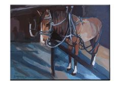 Beautiful Horse Painting on Canvas by WDGDESIGN on Etsy