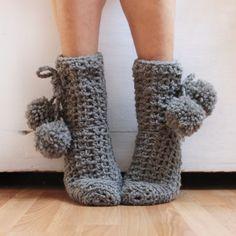 How to make simple crochet socks